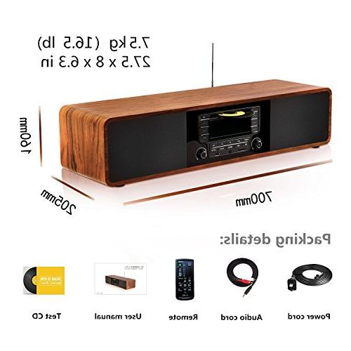 KEiiD Stereo Hi-Fi Home Component Shelf System with Radio Tuner Control SD
