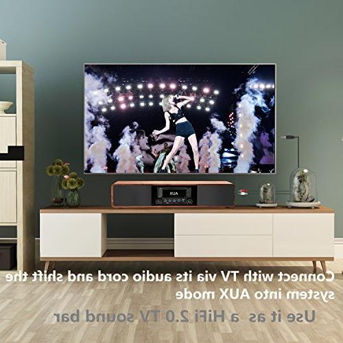 KEiiD CD/MP3 Stereo Desktop Hi-Fi Portable Home Music Shelf with Radio Digital Tuner Control