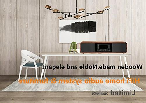 KEiiD Compact Stereo Bluetooth Hi-Fi Boombox Home Audio Component Shelf System with Radio Digital Tuner Control