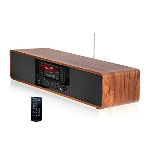 KEiiD Compact CD/MP3 Player Stereo Wooden Desktop Bluetooth