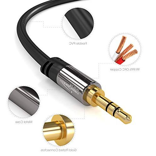 KabelDirekt feet Cord, to for Car/Home Smartphone, any Device 3.5mm Aux