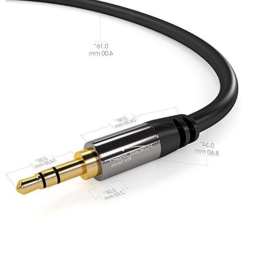 KabelDirekt feet Cord, Male to for Car/Home Stereo, Smartphone, or any Audio Device 3.5mm