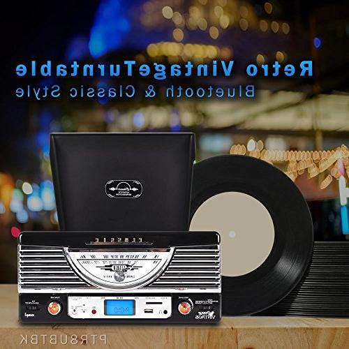 Pyle Vintage - Retro With Bluetooth, SD 3-Inch Speakers Files to with Remote