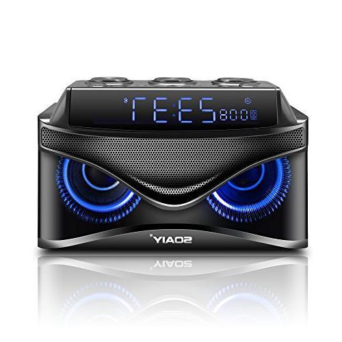 SOAIY Bluetooth Speaker Subwoofer Soundtrack 2.1,24 Hour Tim