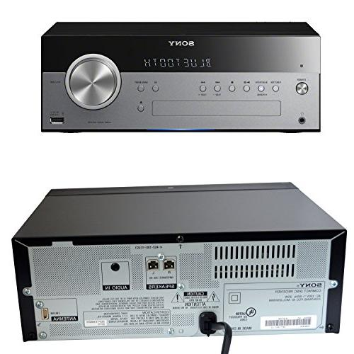 Sony All In One Stylish Micro System with Wireless Streaming NFC CD player tuner Auxiliary + HeroFiber Cloth