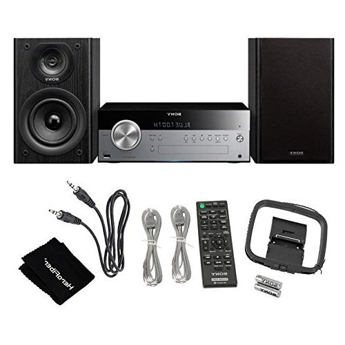 Sony All Stylish Micro System with NFC , Bluetooth, CD Player & Tuner + Aux Cable Cleaning