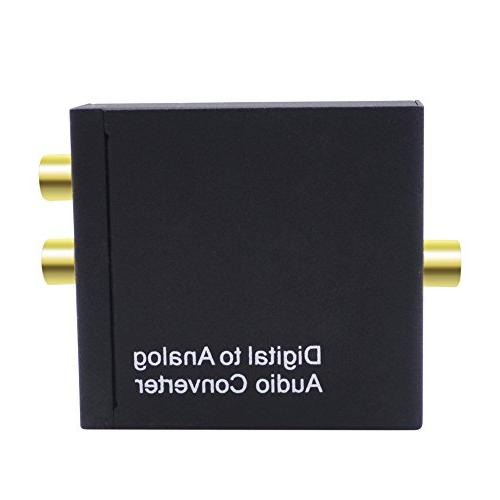 TOOGOO Digital to Converter Digital SPDIF Toslink Audio L/R with Optical Cable PS3 XBox HD PS4 Home Systems AV Apple