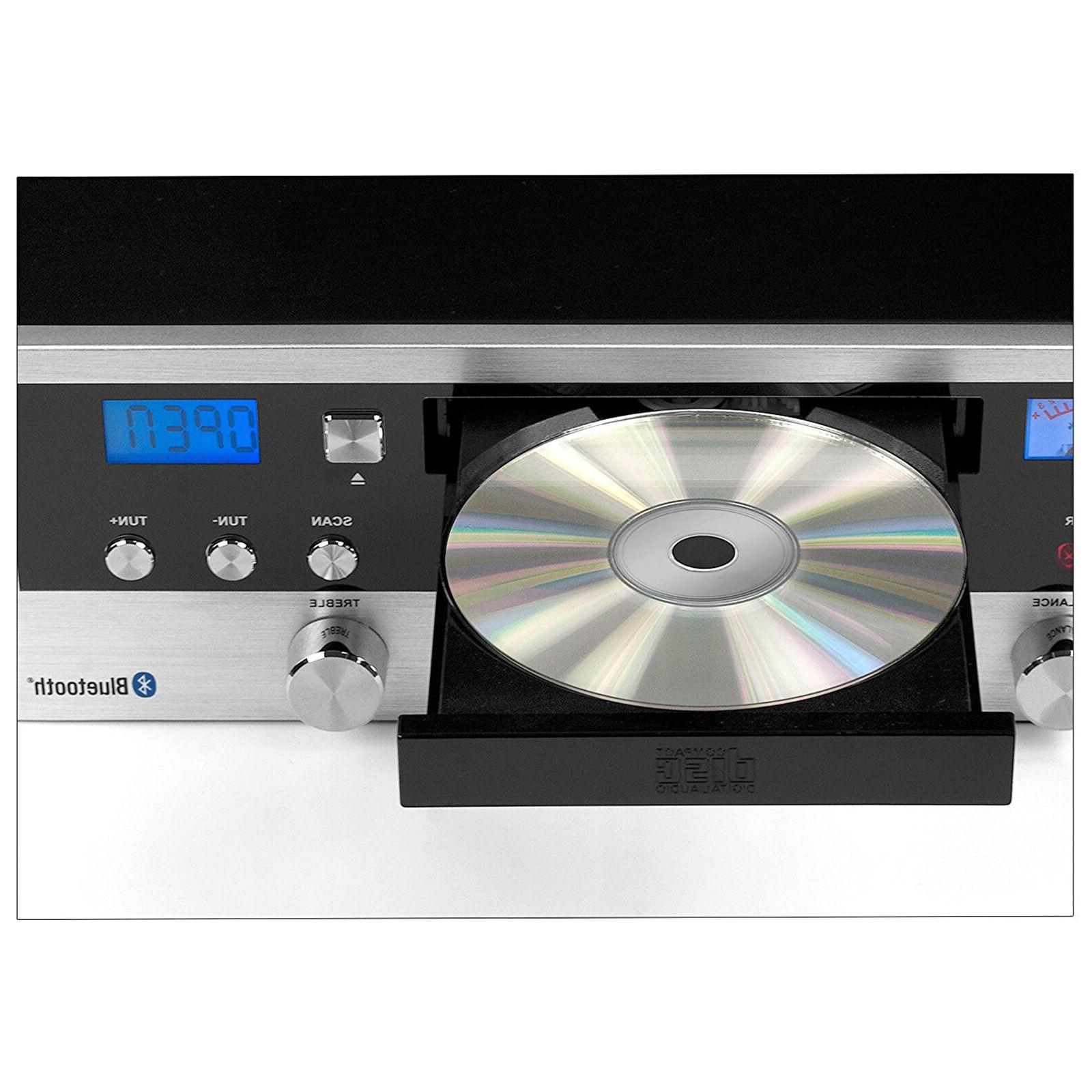 Audio System Stereo Cabinet CD FM Radio Wireless