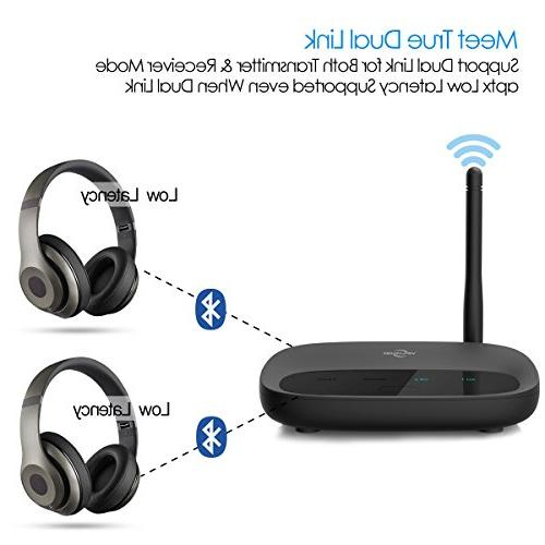 Bluetooth Viflykoo Long 3 in Adapter, in Dual Pair 2 RX Mode, AUX RCA TOSLINK TV/Home