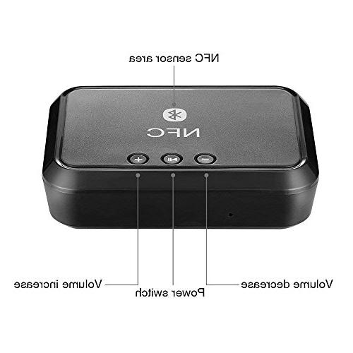 TOOGOO Bluetooth Receiver, 2-in-1 Bluetooth Wireless 3.5mm for Sound with Long Connect with Phone,Tablet