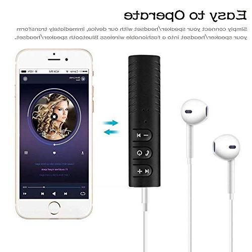 TOOGOO Bluetooth AUX Adapter Handsfree Portable Car for Music System