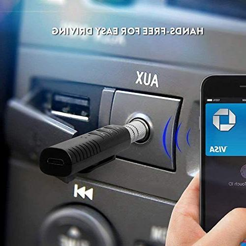 TOOGOO 3.5mm AUX Adapter Handsfree for Home/Car Audio Stereo Music System