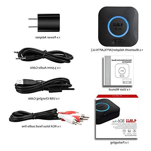 1Mii B06 Receiver, Adapter, Bluetooth 4.2 Receiver with aptX Low Home Music Streaming
