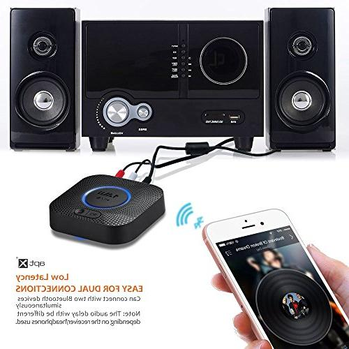 1Mii B06 Bluetooth Receiver, HIFI with 3D Low for Home Music Streaming System