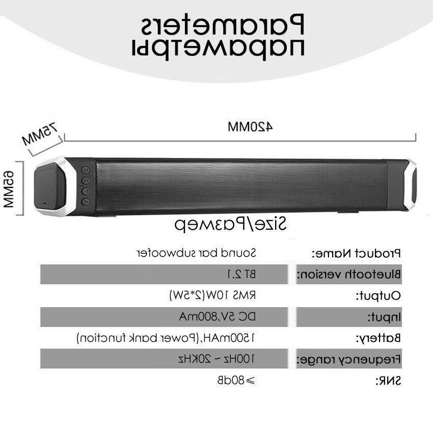 Bluetooth Soundbar System For Home Office Stereo Speakers For Samsung