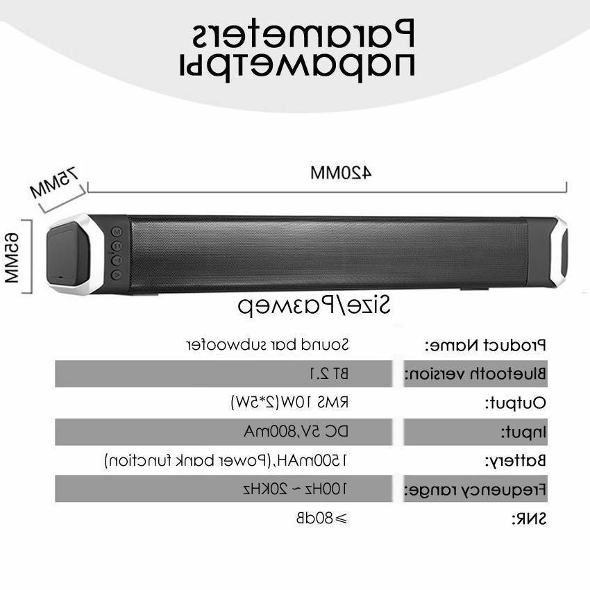 Bluetooth Soundbar For Home Speakers For