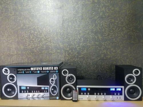 Bluetooth Wireless Home Speaker Radio CD Player 50w