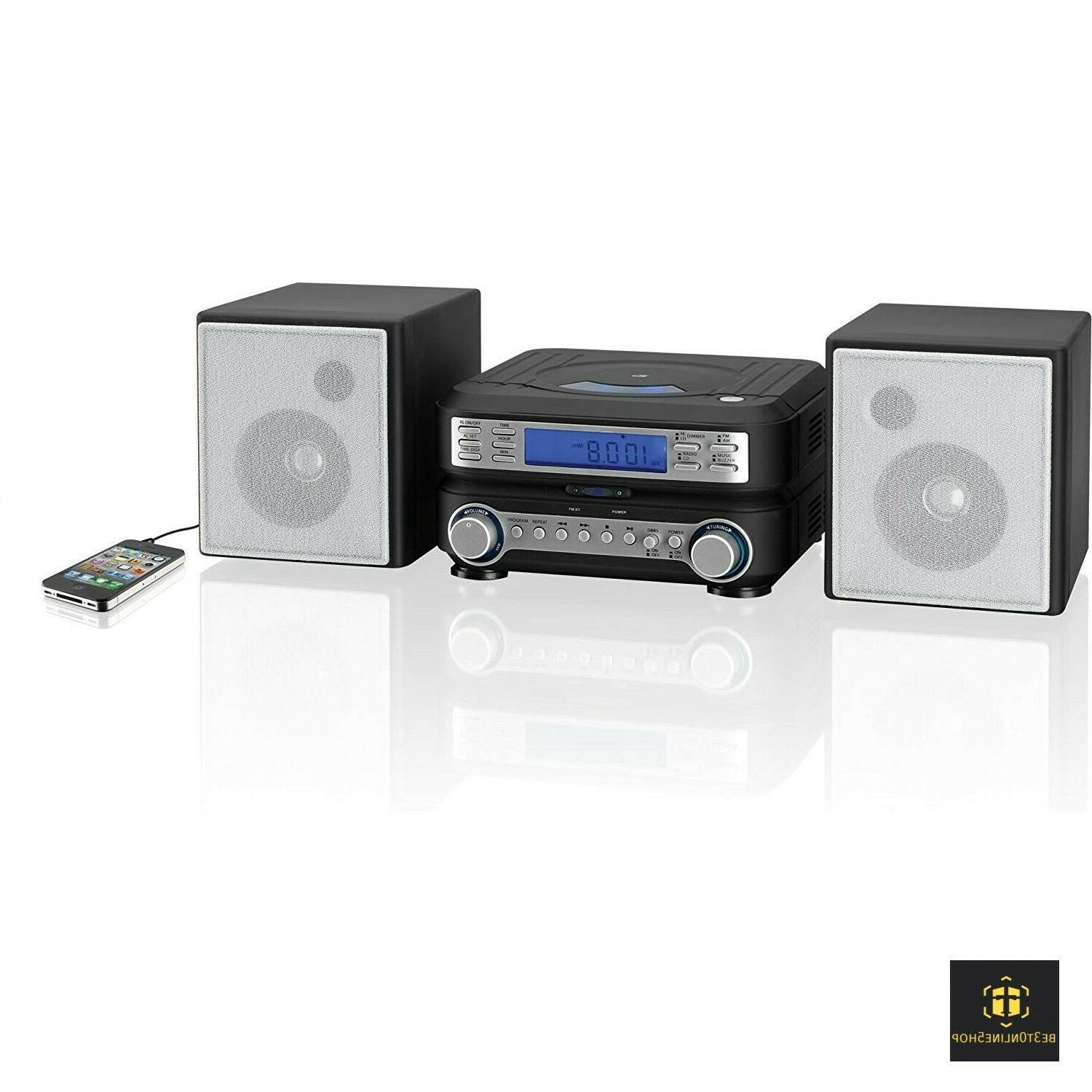 Bookshelf CD System Home AM Radio Mini Compact Small