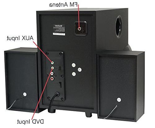 Boytone 2.1 Powerful FM Radio, Aux USB Audio for Phones, and Home