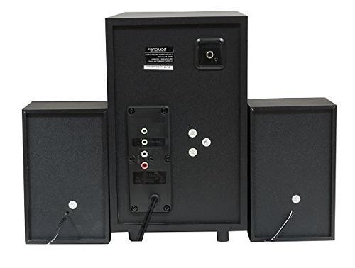 Boytone 2.1 Multimedia 40 Powerful FM Radio, Remote Aux USB Audio for