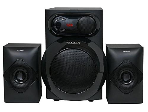Boytone 2.1 Multimedia Watt, Powerful System FM Aux Port, for and Home