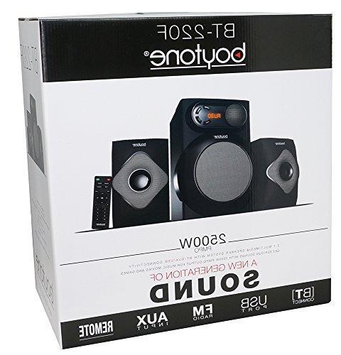 Boytone Bluetooth 2.1 Powerful Bass FM Radio, Aux Port, USB for Tablets, and Home Movies