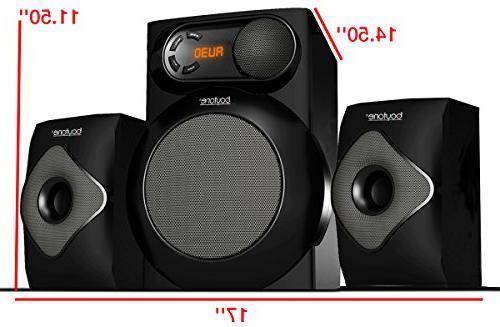 Boytone BT-220F, 2.1 Powerful System FM Radio, Aux Port, USB for and