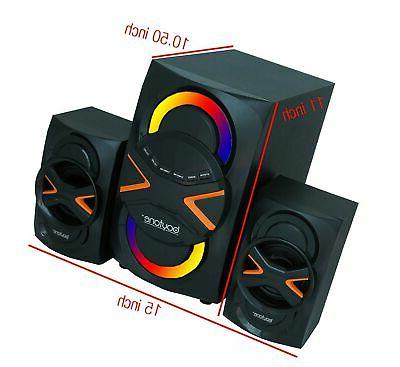 Powerful Home Theater Speaker System, with FM