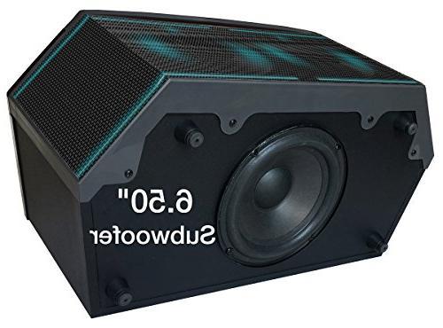 "Premium Theater Speaker Super Clear 6.5"" 3"" Midrange/Tweeter, Radio, Disco Light, USB/SD/MP3"
