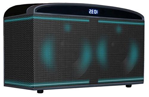"Boytone Bluetooth Premium HiFi Theater Speaker 100w, Super Bass, Clear 6.5"" X4 Midrange/Tweeter, Disco Light, USB/SD/MP3"