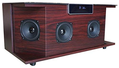 "Boytone BT-66B, 100-Watts Bluetooth Premium Stereo Speaker, Sound, Subwoofer 3"" FM Slot"