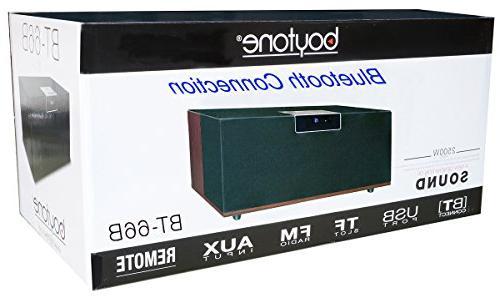 """Boytone Bluetooth Premium HiFi Stereo Speaker, Super Bass, Clear Sound, 6.5"""" 3"""" 4 FM SD Slot"""