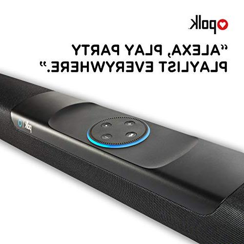 Polk Audio Bar Hands-free Amazon 4K HDMI, TV for