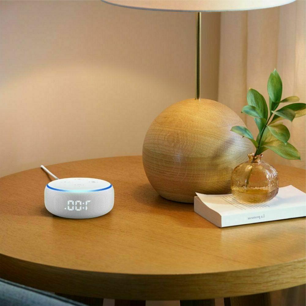 Amazon Dot Gen Clock White Sandstone New Sealed