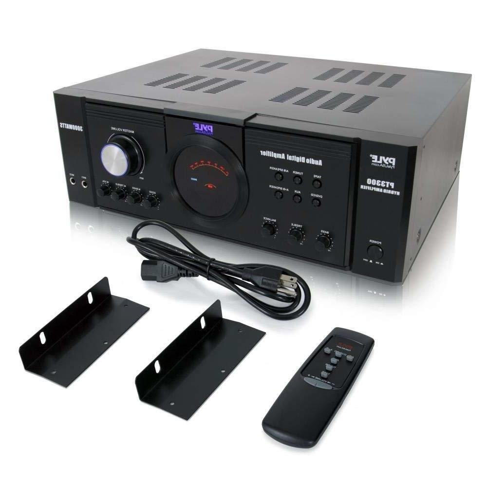 Pyle Home Audio Amplifier Receiver 3000 Watt 4 Channel Surro