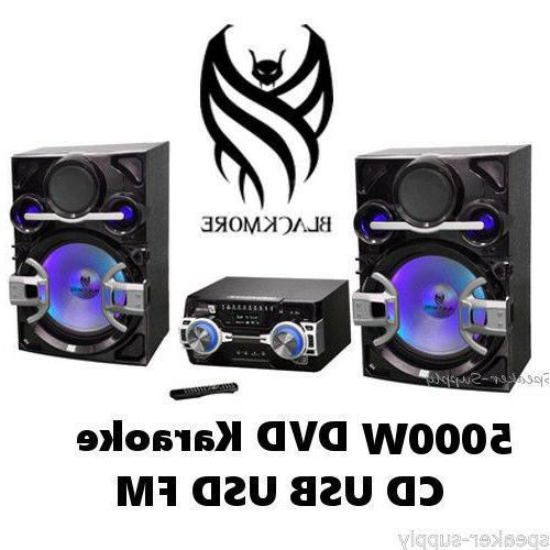 Blackmore 5000W Stereo Audio Video System Karaoke Mic