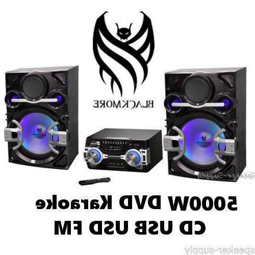 Blackmore 5000W Stereo Audio Video System Karaoke Mic