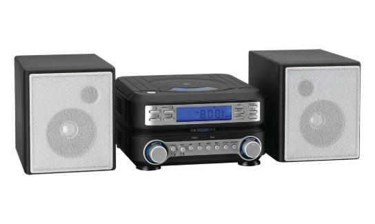 Home Stereo System CD/MP3 Player With Remote Alarm Clock AM/