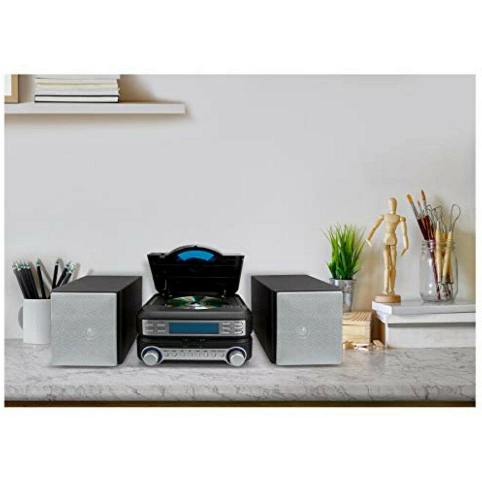 Home System AM FM CD Player Shelf Speakers Bookshelf Remote