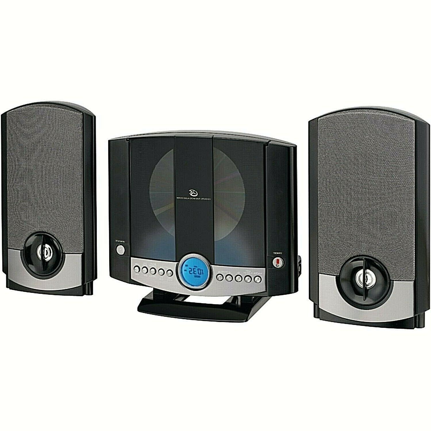 GPX Home Stereo System AUX Music CD Player Clock A/FM Radio