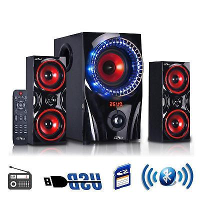 Home System Sound Speakers Wireless Bluetooth USB