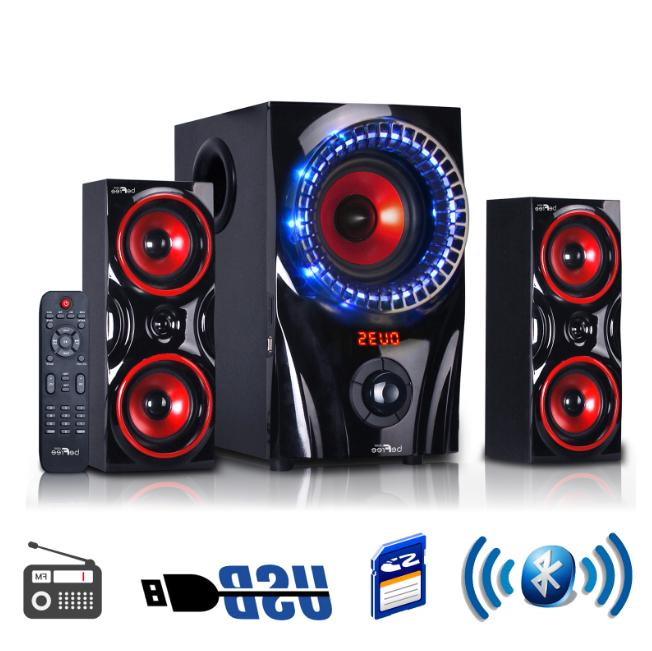 Home Theater Stereo Audio System Sound Speakers W/ Remote Wi