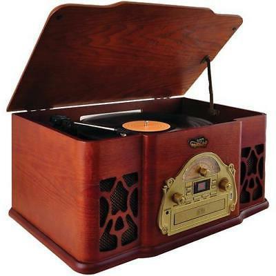 home vintage style bluetooth turntable speaker system