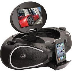 iLive IBPD882B CD/DVD/iPhone Boombox with 7-Inch TFT Display