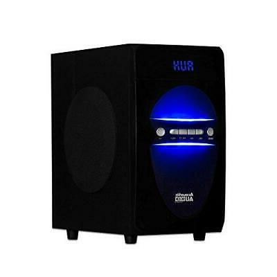 Acoustic 2.1-Channel Home Stereo System Black
