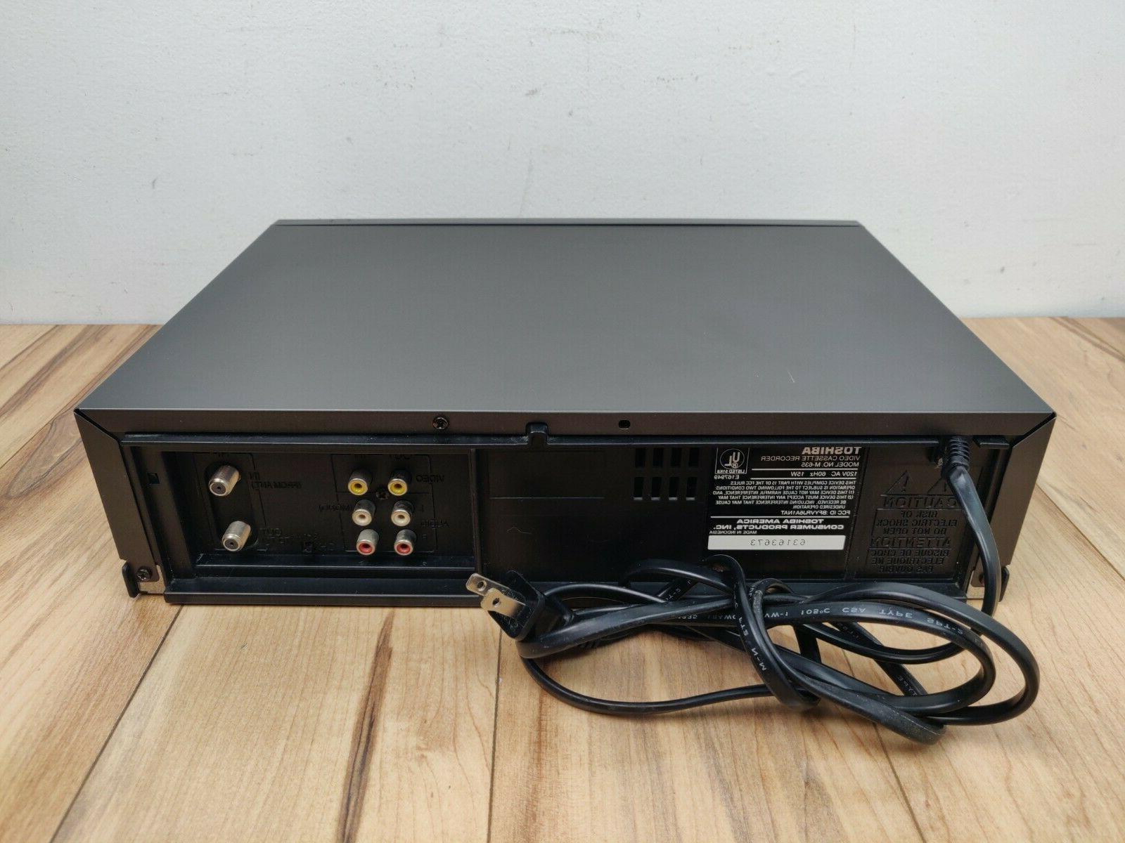 Toshiba M-635 Hi-Fi VHS VCR Player Tested