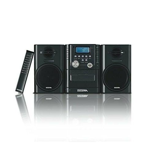 AXESS MS3912 Mini Entertainment System with AM/FM, CD, Cassett