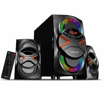 Multimedia Stereo Home System Speaker Bluetooth MP3 FM Wirel