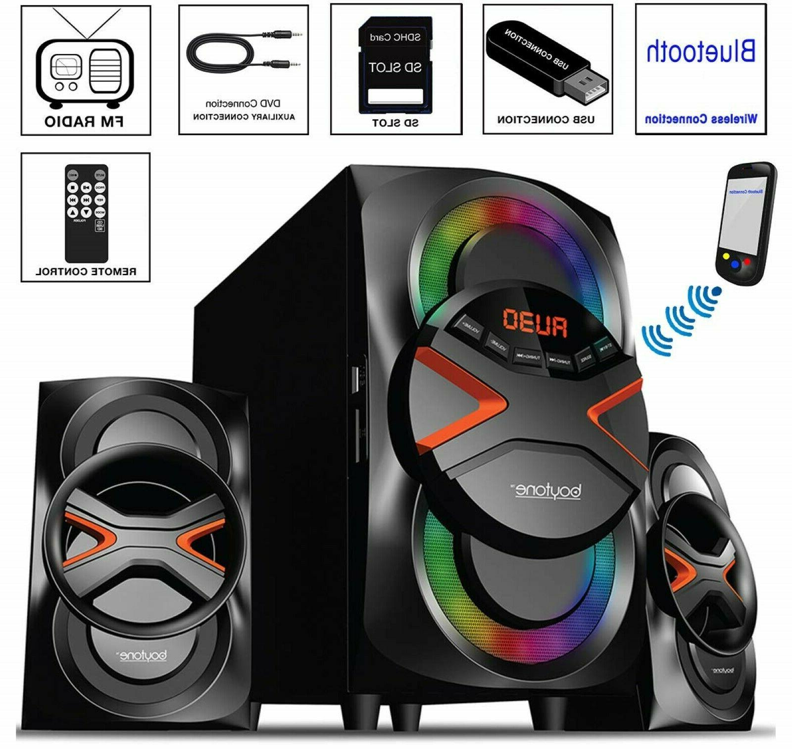 Multimedia Stereo Home Wireless System Bluetooth Speaker FM