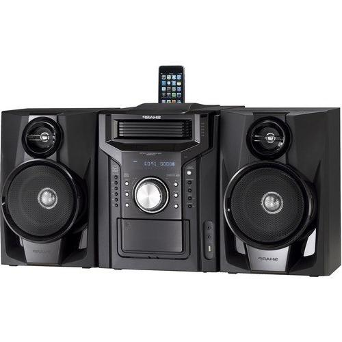 Sharp 240-Watt All-In-One Audio Stereo Sound With Changer, Cassette Deck, Dock, Tuner, Remote Control